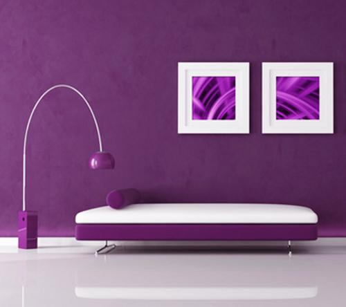 Фиолетовый цвет в интерьере фото