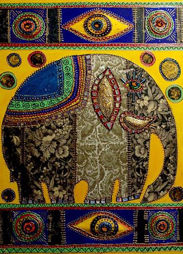 """Схема вышивки  """"Индия.Слон """": таблица цветов."""