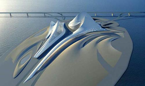 Заха Хадид (Zaha Hadid), Opera house and cultural centre, Dubai, United Arab Emirates (Оперный театр и культурный центр в Дубаи, ОАЭ), фото