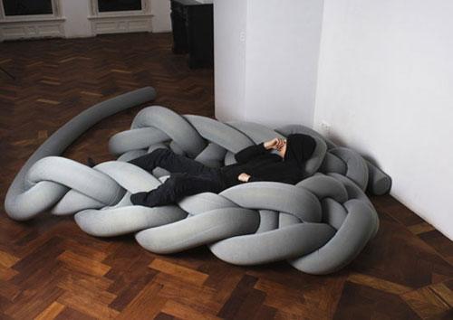 Вязаная мебель – модный тренд в дизайне интерьеров | Homy