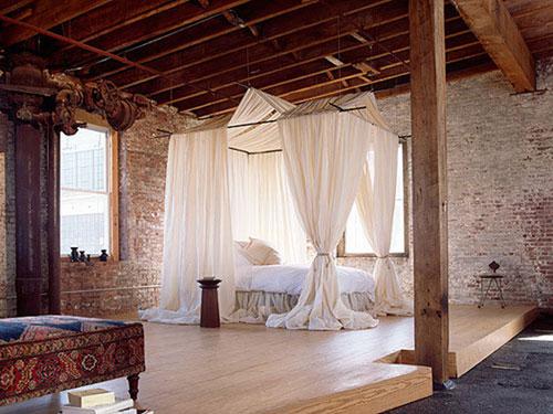 Интерьер спальни в стиле лофт фото